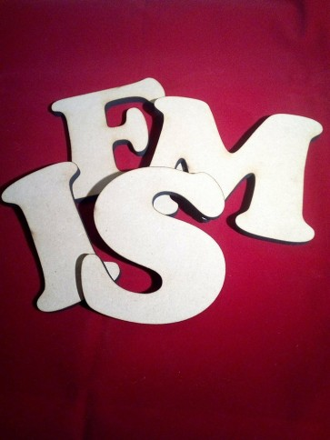 Losse Decoratie letter MDF