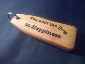 Robuuste sleutelhanger - Key to happiness