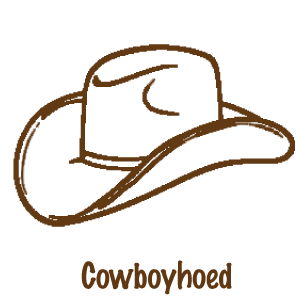 decoratie cowboyhoed