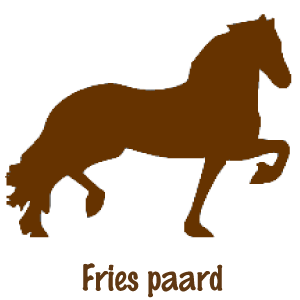 decoratie Fries paard