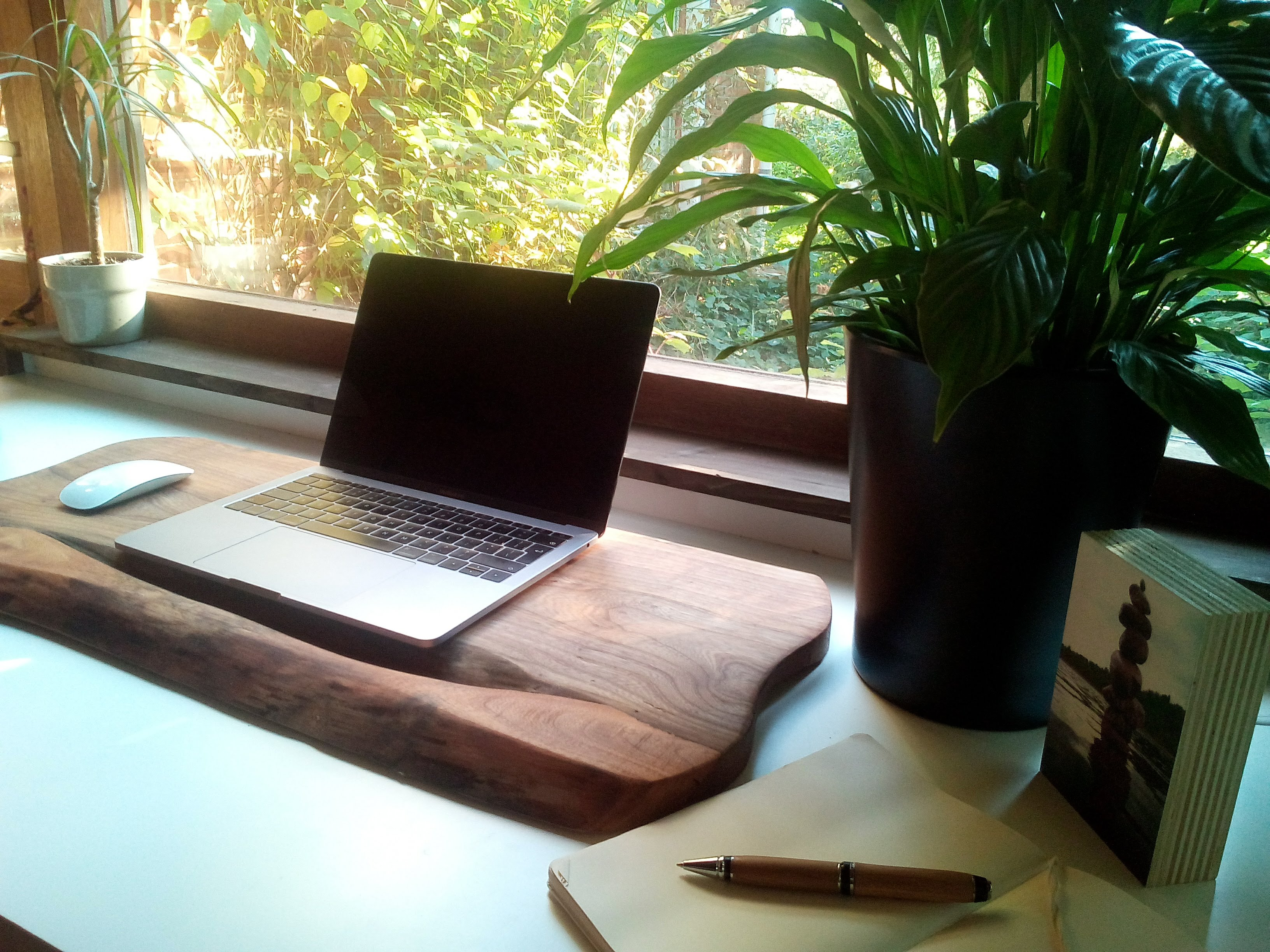 macbook steun massief hout